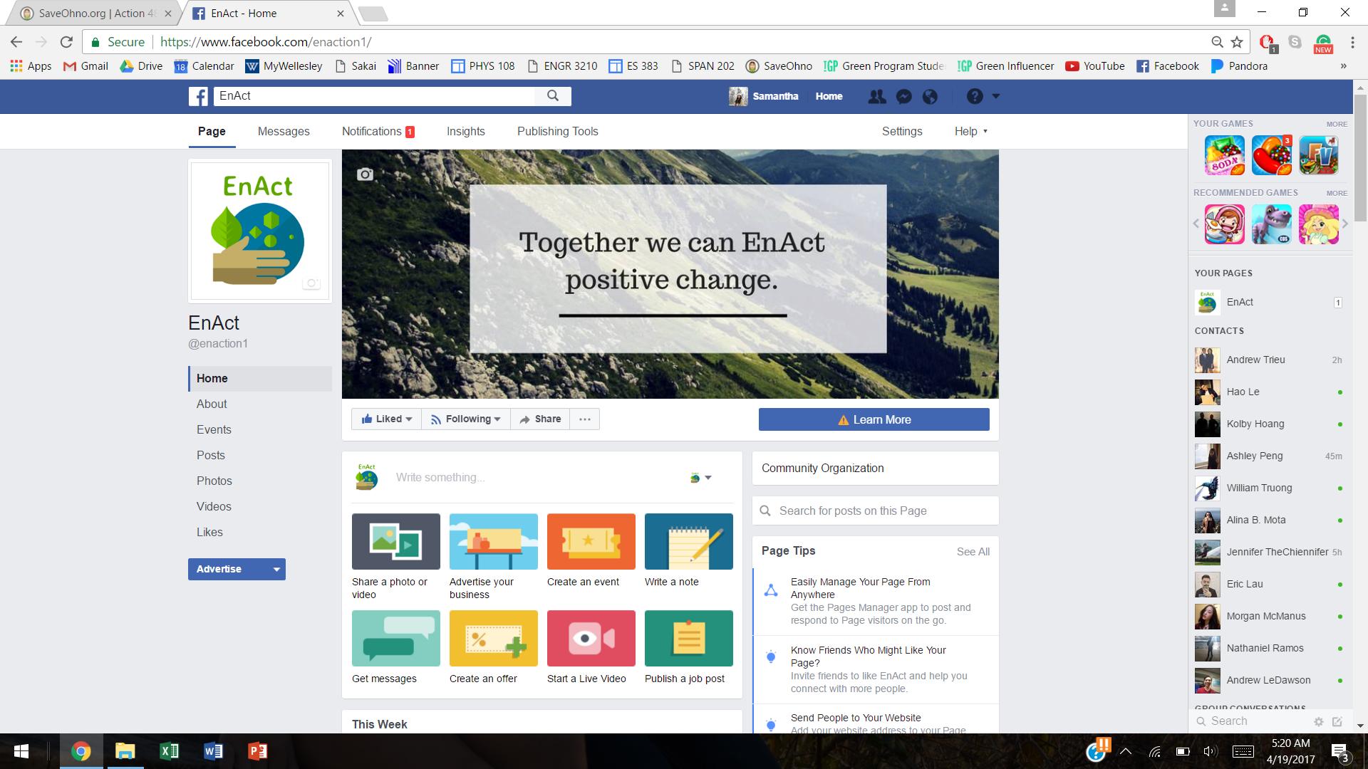 Enact facebook like